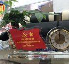 Đồng hồ để bàn Pha lê - Quà tặng đại hội Đảng 2020